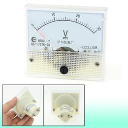 Wholesale Voltmeter Analog Dc - Wholesale-0-30V 85C1-V Analog Voltage Meter DC 30V Voltmeter Discount 50