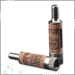 Wholesale Electronic Wood - Newest Woodtank Atomizer Wood Material huge vapor tank Bottom Dual Coil Atomizer Electronic cigarette DHL Free