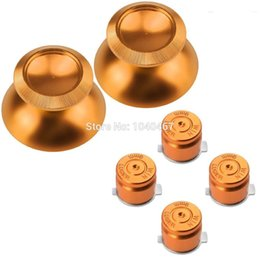 Wholesale Ps4 Bullet - Metal Bullet Buttons + Aluminium Thumbsticks analog stick For Sony Play station 4 PS4 Controller