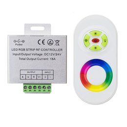 Wholesale Remote Touch Dimmer - Hot Wireless RF Touch Dimmer Remote RGB Controller DC 12V-24V 18A RF remote control for 3528 RGB LED Strip Light 5050 diode tape