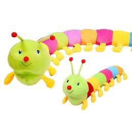 Wholesale Inchworm Plush Toys - S5Q Plush Toy Doll Colorful Inchworm Soft Lovely Developmental Child Baby Pillow AAAEHI