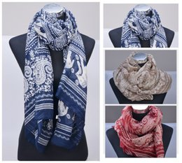 Wholesale Beach Towels Beige - 180*90cm, fashion female animal Elephant printed cotton voile scarf shawl vintage flower beach towel silk Scarf Cachecol