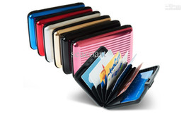 Wholesale Color Pvc Cards Wholesale - FREE SHIPPING 500pieces lot 952 aluminum alloy credit card bag name card boxes surface color credit card box