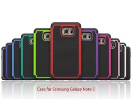 Wholesale Galaxy Mini Skin - For Samsung Galaxy Note 5 S5 mini S5 Shockproof 2 in 1 Case Silicone TPU Heavy Duty Tough Hybrid Rubber Football Skin Hard Back Cover s6