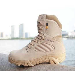 Wholesale Desert Special Combat Boots - Winter Autumn Men Military Boots Quality Special Force Tactical Desert Combat Ankle Boats Army Work Shoes Leather Snow Boots