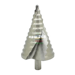 Wholesale Step Drill Spiral - 6-60MM 12 Sizes Steps Nitriding Spiral Step Core Cone Drill Bits Increment Drilling Reamer Reaming PVC Wood Plate Hole Cutter