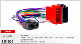 Wholesale alpine radios - CARAV 15-101 Top Quality Car ISO Harness for Alpine Stereo Radio Wire Adapter Plug Wiring Connector Cable