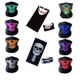 2019 sciarpa variabile Outdoor Sports Seamless Multi-funzionale Sciarpa magica Maschera da equitazione Protezione collo caldo Puntelli di Halloween Changeable Skull Scarf Ciclismo Maschere sconti sciarpa variabile
