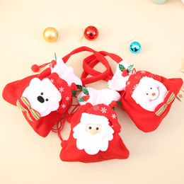 2020 paquetes de dulces de santa Bolsas de Navidad calientes Bolsas de regalo de Papá Noel Bolsa de dulces de Navidad Paquete de regalo Conjunto a granel de bolsos de chucherías de colores de múltiples estilos IB507 rebajas paquetes de dulces de santa