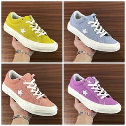 Wholesale Le Run - 2017 Conversed One Star X Golf le Fleur bees Shoes Women Men Casual Designer Fur Yellow Blue Canvas Running Casual Luxury Sneakers 36-44