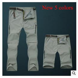 Wholesale Detachable Pants - 2015 spring summer camping hiking Men's pants Outdoor UV Resistant Fast Drying men's Quick Dry Pants Pants sport trousers detachable 9999