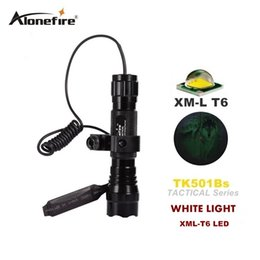 Wholesale Tactical Scope Light - 501B XML-T6 ED tactical Flashlight Torch 1 Mode or 5 mode Flash Light Lanterna lampe torche + Remote Pressure Switch & Gun Mount scope mount