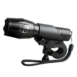 Wholesale Holder Flashlight Head - Bike Accessories Bicycle Headlight Cycling Front Light CREE T6 LED Flashlight 3800Lumen Torch Clip Lights Holder torch