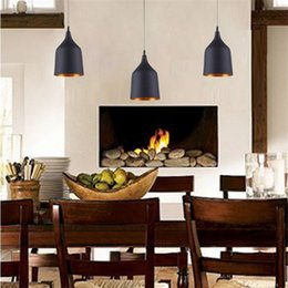Wholesale Wholesale Pendant Tables - New arrivel Indoor Pendent Light Tom Dixon Winebowl Pendant Lamp Dining-room Lamp Table Lamp White Black Color Light E27 Bulb Light Lamps