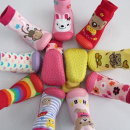 Wholesale G Sock - Children's Infant Cartoon Socks Baby Gift Kid's InRetail 1Pair baby socks with rubber soles Floor Sock With Animal Children Kids G