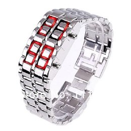 Wholesale Digital Wrist Watch Low Price - 500PCS DHL Free Shipping, Lowest Price 2014 New Style LED Wristwatch for Men, High Quality Wrist Digital Watch With Black Silver 0419xx