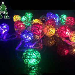 Wholesale Rgb Color Meter - 3W Multi-Color Sepak Takraw Holiday Lighting String with 20pcs LED Bulbs, AC110~220V Input 4 Meter a Set