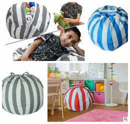 Wholesale Toy Blankets - Creative Stuffed Animal Storage Bean Bag Chair Multifunctional Kids Toys Storage Bag Clothes Blanket Organizer Bags KKA3204