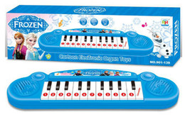 Wholesale Electronic Organ Toys - Musical instruments toy for kids Frozen girl Cartoon electronic organ toy keyboard electronic baby piano with music 8 song Educational toy