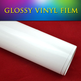 Wholesale Color Self Adhesive Vinyl Film - 1.52*30m(5*98ft) 3 layers premium quality self-adhesive vinil gloss white vinyl film for car wrapping air bubble free