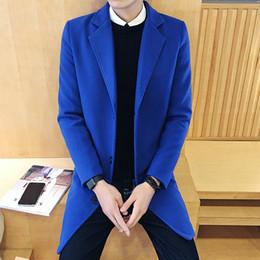 Wholesale Cloak T Shirts - Wholesale- Capes For Men Coat With Hood Long Sleeve T-Shirt Fashion Man Wool Cape Trench Coats Cardigan Elongated Mens Cloak Jacket F20