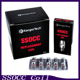 Wholesale Mini V2 - Kanger SSOCC Coil Atomizer Head 0.5ohm 1.2ohm Ni200 0.15ohm Fit kanger subox mini tank Subvod Starter Kit Subtank Mini V2 0266054