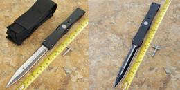 Wholesale Alloy T6 - 2 models Nemesis IV pole straight knife outdoor survival folding knife T6-6061 aluminum alloy handle D2 blade gift knives