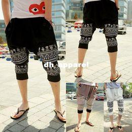 Wholesale Army Breeches - New 2015 Summer Mens Capri Pants: Hip Hop Drop Crotch Pants Joggers Harem Sweatpants Sports Pants Breeches for Running Jogging