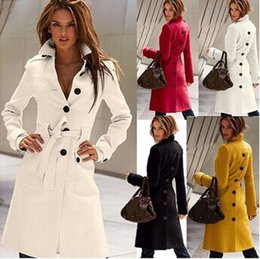 Wholesale Open Breast Clothing - 2015 Spring new Fashion Korea Women's Before and after the open cut Winter Long Coat Clothes Outerwear black 4 colours
