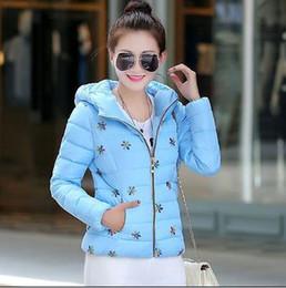 Wholesale Cheap Hooded Parka Coats - 2015 Cheap Plus Size Wadded Jacket Female 2016 New Women's Winter Jacket Down Cotton Jacket Slim Parkas Ladies Coat