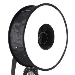 Wholesale Portrait Photography Flash - Portable 18 Inch Round Universal Collapsible Ring Flash Diffuser Reflector Softbox For Macro Portrait Photography Studio