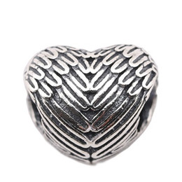 Wholesale Pandora 925 Ale Silver Charm - Jewelry Finding New Beads fit for Pandora Charms 925 Ale Wings Empty Beads be Use As Pandora Beads for Silver Charms Jewelry Making PS0014-1