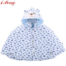 Wholesale Baby Clothing Bear Fleece - Wholesale-Baby Cloak Winter Hooded Cloak Thermal Thickening Cute Bear Soft Fleece Cloak Toddler Girls Clothing Cape Outerwear Coat Unisex