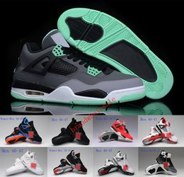 Wholesale Iv Training - 2018 New Air Retro 4 IV jumpman Basketball Shoes for Men Women Sports training Sneakers quality 10 colors 4s Outdoor athletic shoes Eur36-47