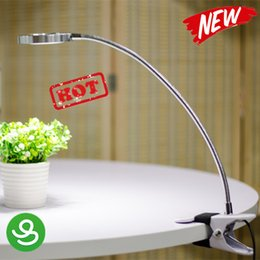 Wholesale Learn Lamp - LED Flexible Reading Light Clip-on Bed Table Desk Lamp Day White Learning bedside reading lamp USB mini LED table lamp 5V