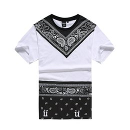 Wholesale Street Swag - 2016 New Male Bandana Shirt Swag Clothes Men's T Shirt Hip Hop Fashion Tees Pyrex Dancing Street Men's Clothing Camisetas Tops