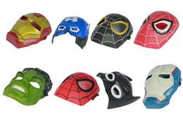 Wholesale Iron Masquerade Masks Wholesale - Wooden Toys free Shipping Halloween Party, Hulk, Captain America, Iron Man Spiderman Batman Luminous Mask, Masquerade Masks, Christmas Gifts