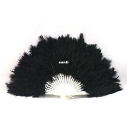 Wholesale hot dance costumes - Fashion Hot Soft Fluffy Burlesque Wedding Hand Fancy Dress Costume Dance Feather Fan