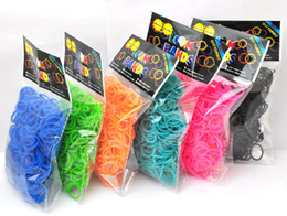 Wholesale Directed Bands - Free shipping 1bag SALE Factory-Direct-Sale High-Quality Solid-Color loom Rubber bands Loom Rubber Bands 600pcs+24 clips with opp package
