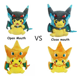 sale stuff toys Coupons - 1pcs Sale Pikachu with Cloak Plush Toys 9inch 25cm Pocket Figures Stuffed Animals Slowpoke Dolls Pikachu Mega Charizard Toy Christmas Gift