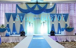Wholesale Window Drape Style - 1PCS Free Shipping Various Style Drapes Swag Colorful 3m*6m Ice Silk Backdrop Curtain For Wedding Decoration Use