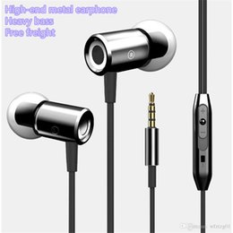 Wholesale Grade Noise Cancelling - New magnet ear plug in the ear-style high-grade metal strong subwoofer common headset wholesale hot headphones