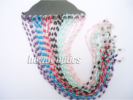 Wholesale Eyeglasses Holder Chain - Wholesale-Beaded Pearl Sunglass Reading Glasses Eyeglass Chain Cord Rope Holder