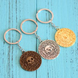 Wholesale Girls Jack - Key buckles of the Caribbean Pirates Aztec gold coin skulls captain Jack key button