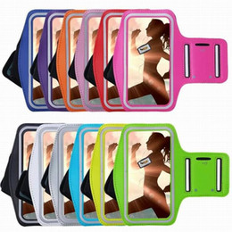Wholesale mobile phone note3 - Mobile Phone Armbands Gym Running Sport Arm Band Cover For Samsung S3 S4 S5 S6 S6edge Note2 Note3 Note4 Adjustable Armband protect Case