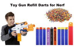 Wholesale Dart Gun Toys For Children - 100PCs Soft Hollow Hole Head 7.2cm Refill Darts Toy Gun Bullets for Nerf Series Blasters Xmas Kid Children Gift