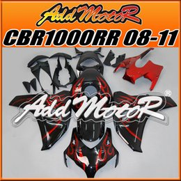 Addmotor Injection Mold Aftermarket Fairings Fit Honda CBR1000RR 2008-2011 CBR 1000RR 08-11 Kit de carrocería Red Flames H1802 Five Free Gifts desde fabricantes