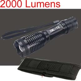 Taschenlampe c8 t6 online-Freies Epacket, Neue Ankunft, 2000 Lumen 7 Modus E8 Zoomable CREE XM-L XML T6 LED Taschenlampe Zoom Lampe Licht + Holster Tasche C8 Holster