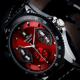 Wholesale Leather Case For Wrist Watches - SG Post or HK Post New Automatic Wrist Leather Date Mechanical Auto Steel Case Men's Watch Wrist Watch for 2013