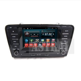 Wholesale Skoda Din Android - Quad Core 2 Din Car Dvd in Car Radio Players for Skoda Octavia A7 with Android System GPS Bluetooth TV CD Mp3 Mp4 iPod